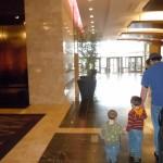 Westin Lombard - John & boys in lobby