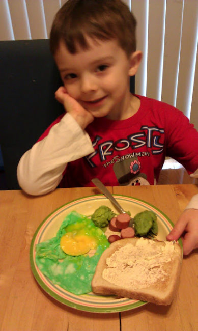 Green eggs & ham - Dr. Seuss food - Cooper
