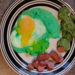 Green Eggs (2 ways) & Ham - Dr. Seuss food