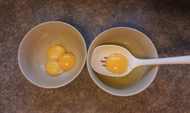 Green eggs and ham - Dr. Seuss food - separating eggs