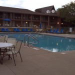 The Abbey Resort - adult outdoor pool - Toddling Around Chicagoland