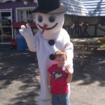 Cooper at SVAP with snowman