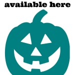 Free Teal Pumpkin Project printable sign - Toddling Around Chicagoland #Chicago #Halloween #TealPumpkin #foodallergy