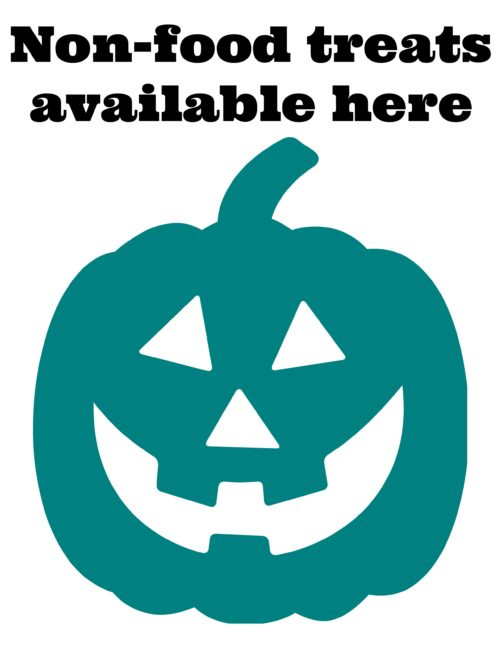 It's just a photo of Epic Teal Pumpkin Printable