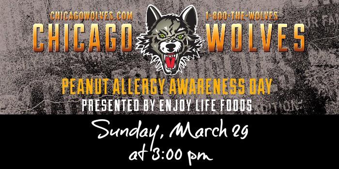 Chicago Wolves Peanut Allergy Awareness Day 2015